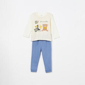 FS MINI KLUB Checked T-shirt with Pyjamas