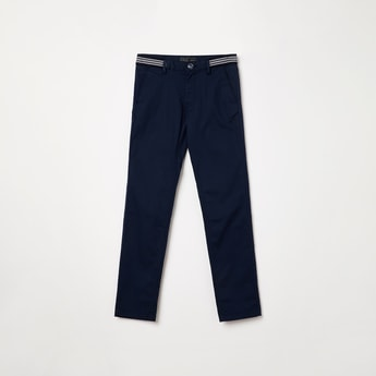 INDIAN TERRAIN Solid Low Rise Slim Fit Chinos