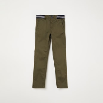 INDIAN TERRAIN Textured Casual Trousers