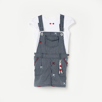 PEPPERMINT Striped Dungarees with Top