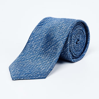 LOUIS PHILIPPE Jacquard Patterned Slim Tie