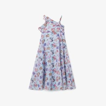 BIBA Printed One Shoulder Dress