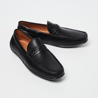 CODE Weave Detailed Loafers