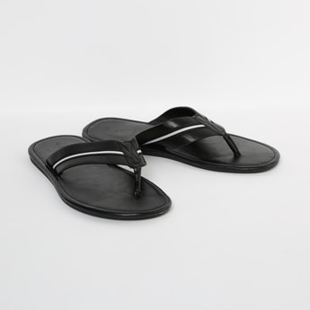 CODE Perforated Flip-Flops with Striped Strap