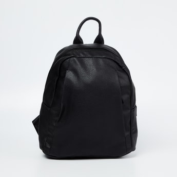 CODE Textured Panelled Backpack