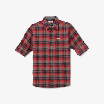 U.S. POLO ASSN. KIDS Checked Casual Shirt