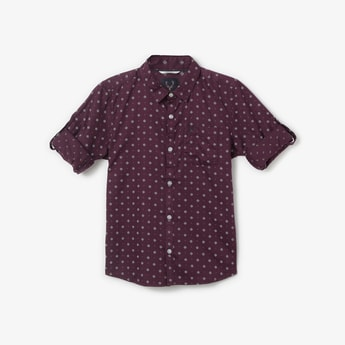 ALLEN SOLLY Printed Full Sleeves Shirt