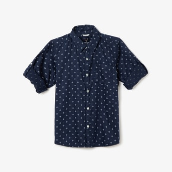ALLEN SOLLY Printed Casual Shirt
