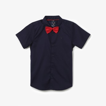 ALLEN SOLLY Short Sleeves Shirt with Bow Tie