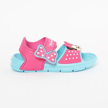 FAME FOREVER Minnie Mouse Velcro Strap Sandals