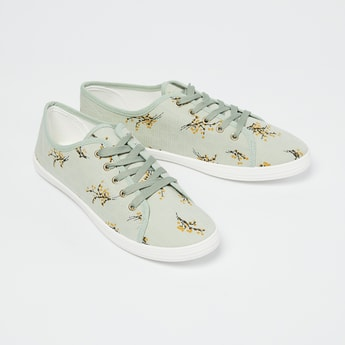 GINGER Floral Print Low-Top Casual Shoes
