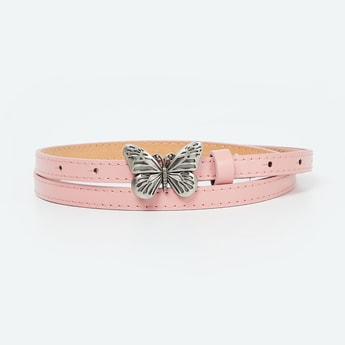 GINGER Slim Belt with Butterfly Applique