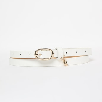 GINGER Slim Belt with Heart-Shaped Accent
