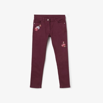 U.S. POLO ASSN. KIDS Appliqued Slim Fit Trousers
