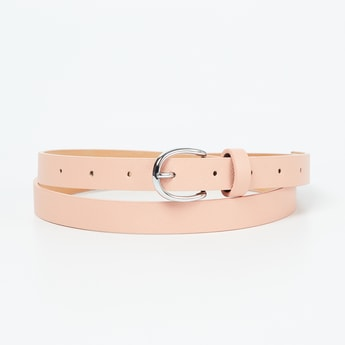 GINGER Textured Belt with Buckle Closure