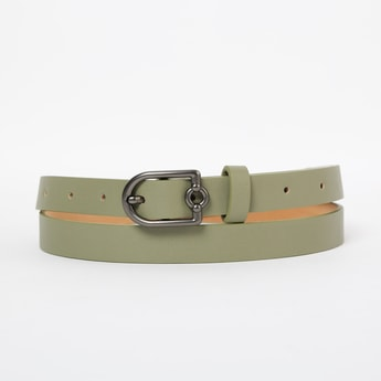GINGER Solid Belt with Buckle Closure