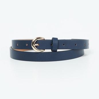 GINGER Textured Slim Belt - Pack of 2