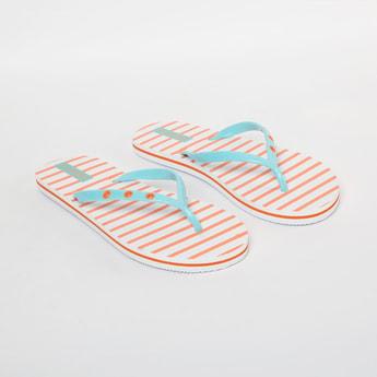 GINGER Striped Slippers
