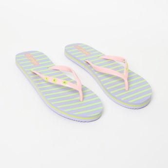 GINGER Striped Casual Flip-Flops