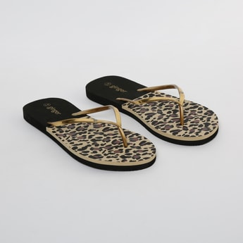 GINGER Animal Print Slippers with Embellishment