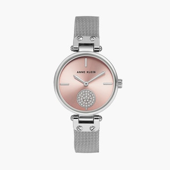 ANNE KLEIN Women Crystal-Encrusted Analog Watch - AK3001LPSV