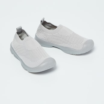 FAME FOREVER Textured Lace-Up Slip-On Shoes