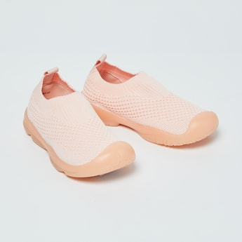 FAME FOREVER Textured Sock-Knit Shoes