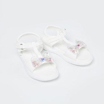 FAME FOREVER Bow Detailed Velcro Strap Sandals