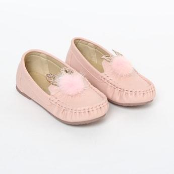 FAME FOREVER Embellished Loafers