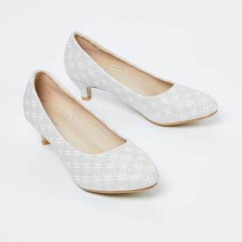FAME FOREVER Shimmer Pointed Toe Heels