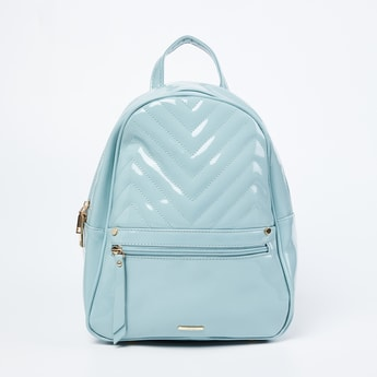 GINGER Textured Zip-Closure Backpack