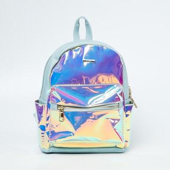 GINGER Holographic Panelled Backpack