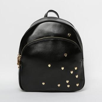 GINGER Studded Backpack with Zip Pocket