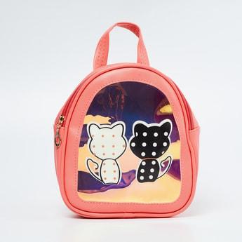 GINGER Kitten Print Backpack