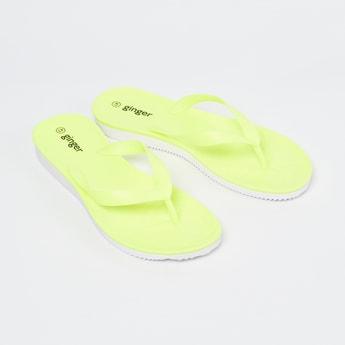 GINGER Solid V-strap Slippers