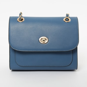 CODE Solid Sling Bag with Flap Closure