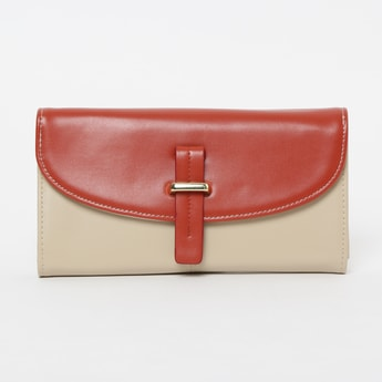GINGER Colourblocked Flap-Closure Sling Bag