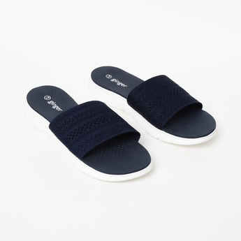 GINGER Textured Sliders with Midfoot Strap