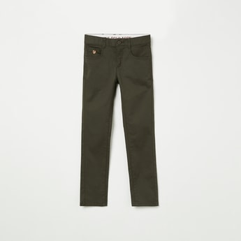 U.S. POLO ASSN. KIDS Solid Slim Fit Chinos