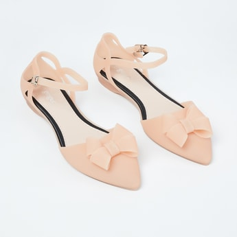 GINGER Ankle-Strap d'Orsay with Beaded Bow