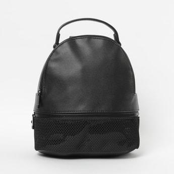 GINGER Solid Zip-Closure Backpack