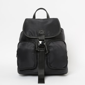 GINGER Solid Travel Backpack with Drawstring Fastening