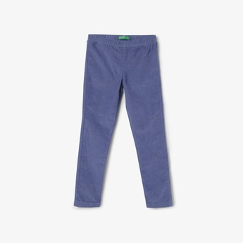 UNITED COLORS OF BENETTON Textured Leggings with Elasticated Waist