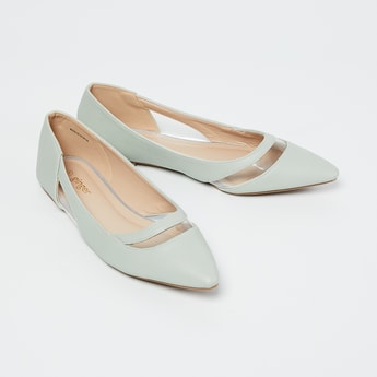 GINGER Pointed-Toe Bellies with Transparent Panel