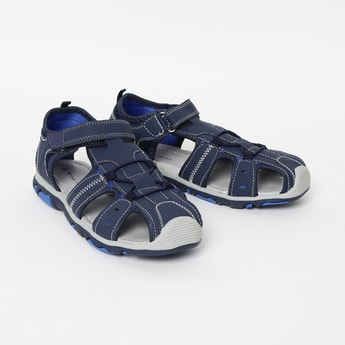 FAME FOREVER Textured Sandals with Cutouts