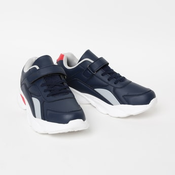 FAME FOREVER Panelled Casual Shoes with Velcro