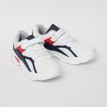 FAME FOREVER Colourblock Casual Shoes with Velcro Closure