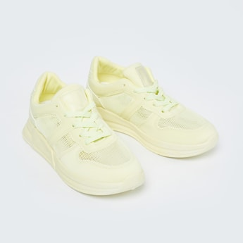 GINGER Solid Lace-Up Sports Shoes