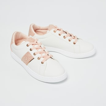 GINGER Embossed Detail Lace-Up Casual Shoes