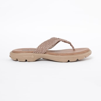 RAW HIDE Braided Thong Flat Sandals